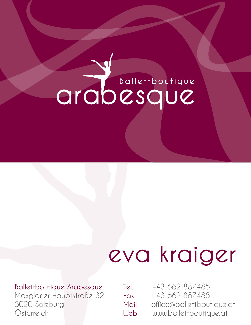 Arabesque Visitenkarte2